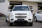 Декоративные элементы на радиатор (черн. загл.) d16 Chevrolet Trailblazer (2013-н.в.)