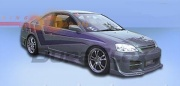 Накладки на пороги R34 Honda  Civic VII (2001-2003)
