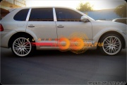 Накладки на пороги Techart Porsche Cayenne 955 (2002-2007)